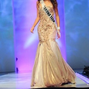 BEAUTIFUL EMBELLISHED PAGEANT GOWN